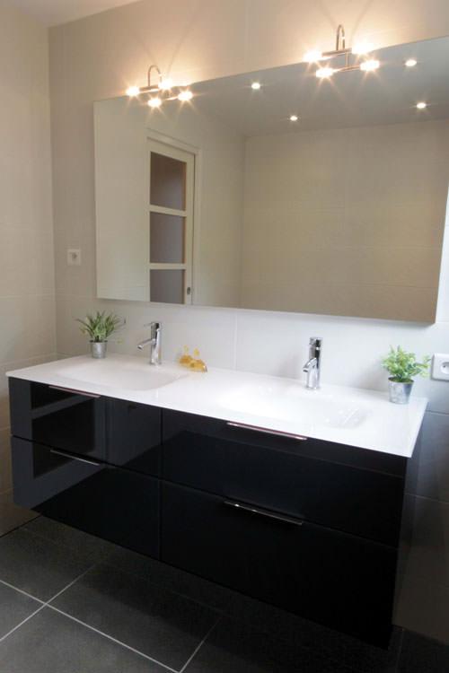 Meuble salle de bain 140 cm design
