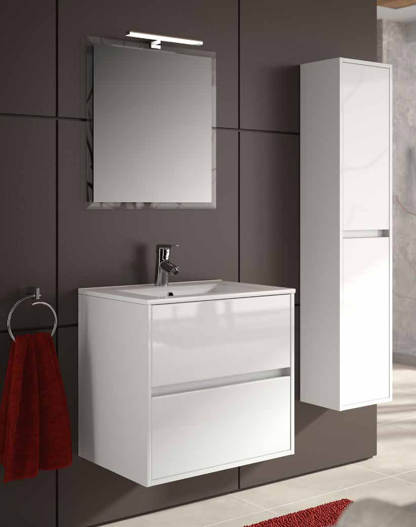 Meuble salle de bain design led