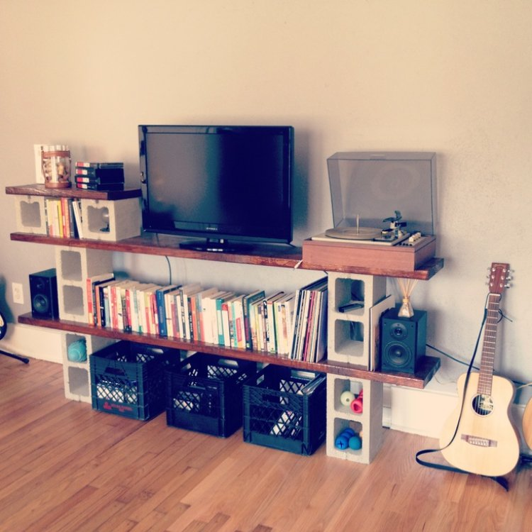 Diy meuble tv parpaing