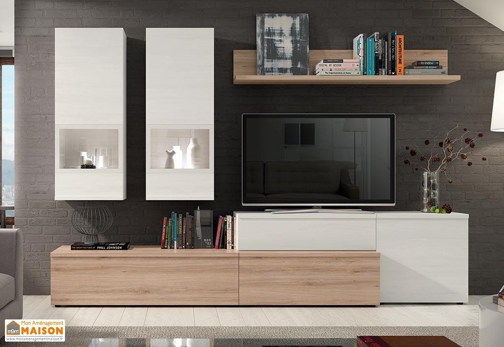 Ensemble meuble tv bois clair