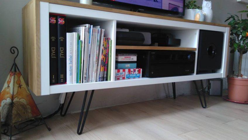 Meuble tv customisé