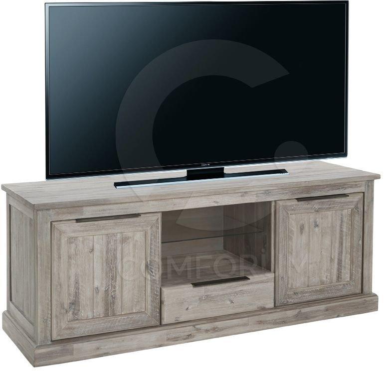 Meuble tv en bois ceruse