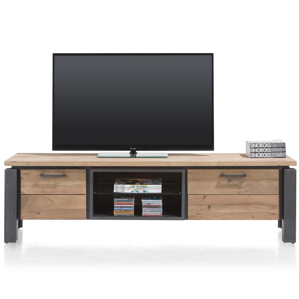 Meuble tv bois metal 180