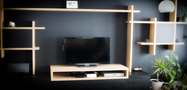 Menuisier meuble tv