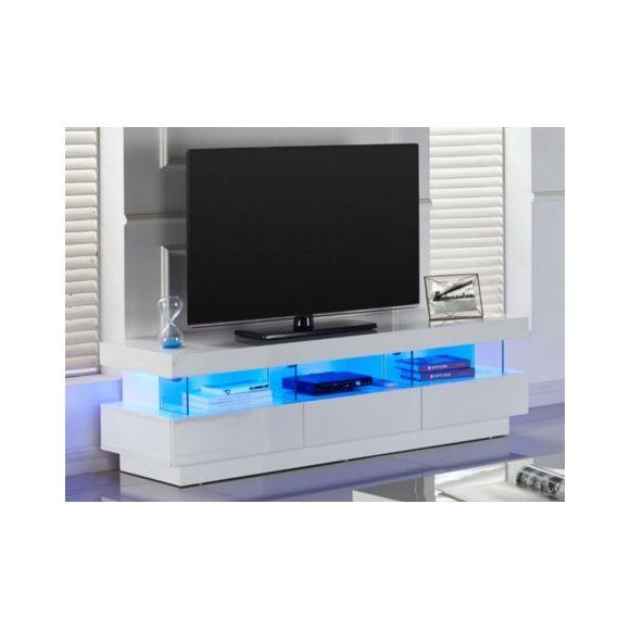 Meuble tv laqué noir avec tiroir