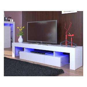 Meuble tv 2m blanc laqué