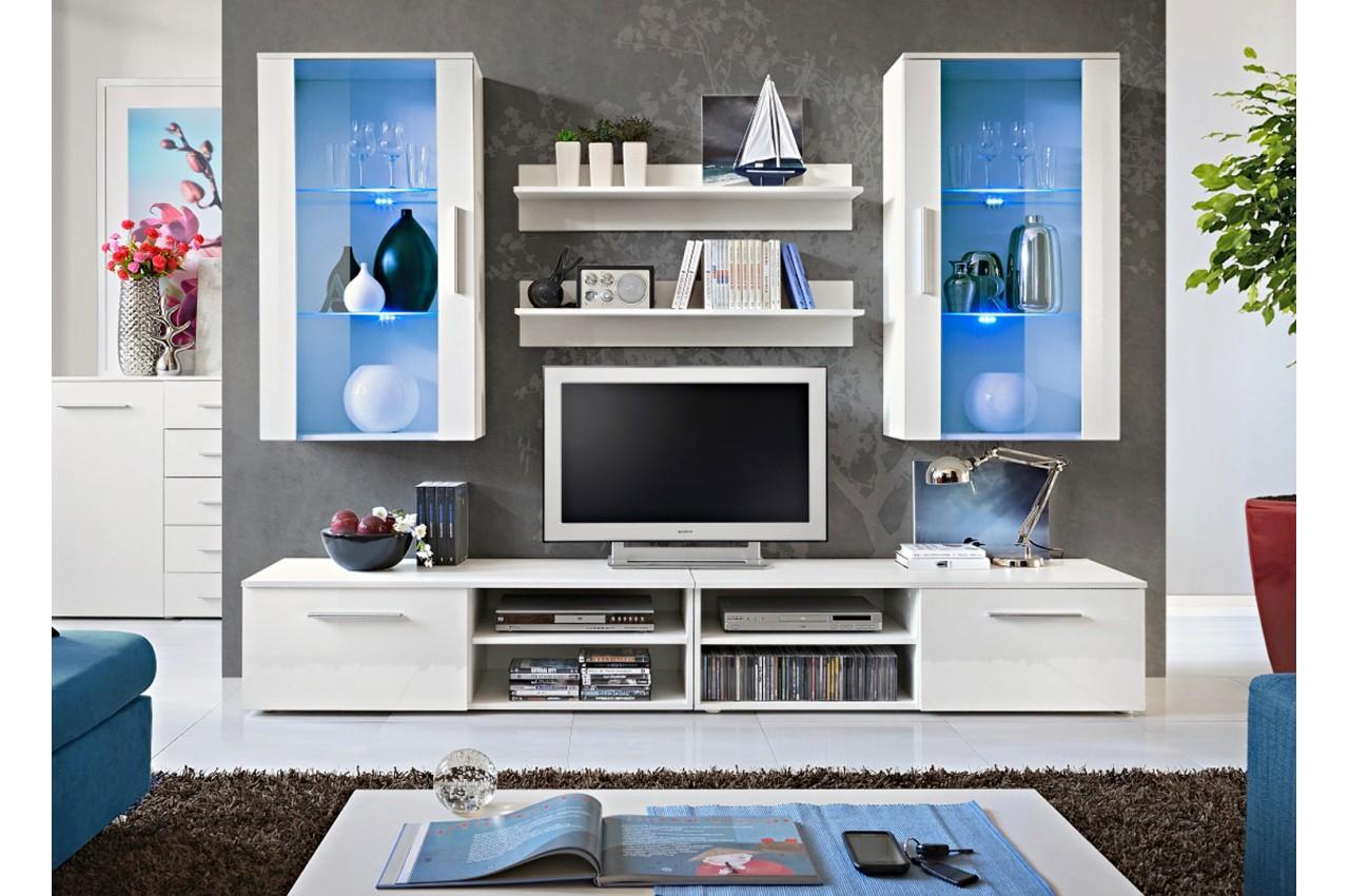 Meuble tv avec vitrine