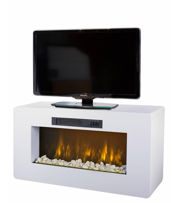 Meuble tv cheminée electrique