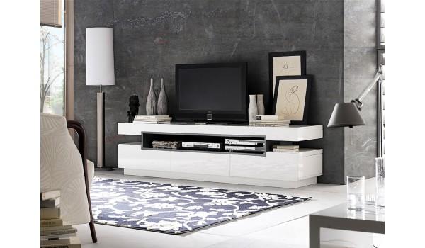 Meuble tv designe blanc