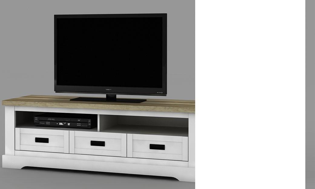 Meuble tv bois moderne pas cher