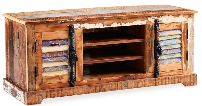 Meuble tv en bois peint