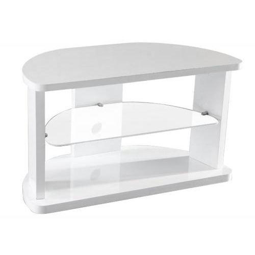 Petit meuble tv d'angle blanc