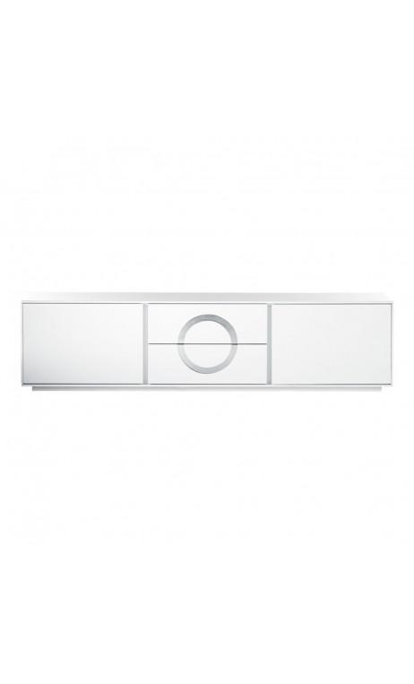 Meuble tv blanc et chrome