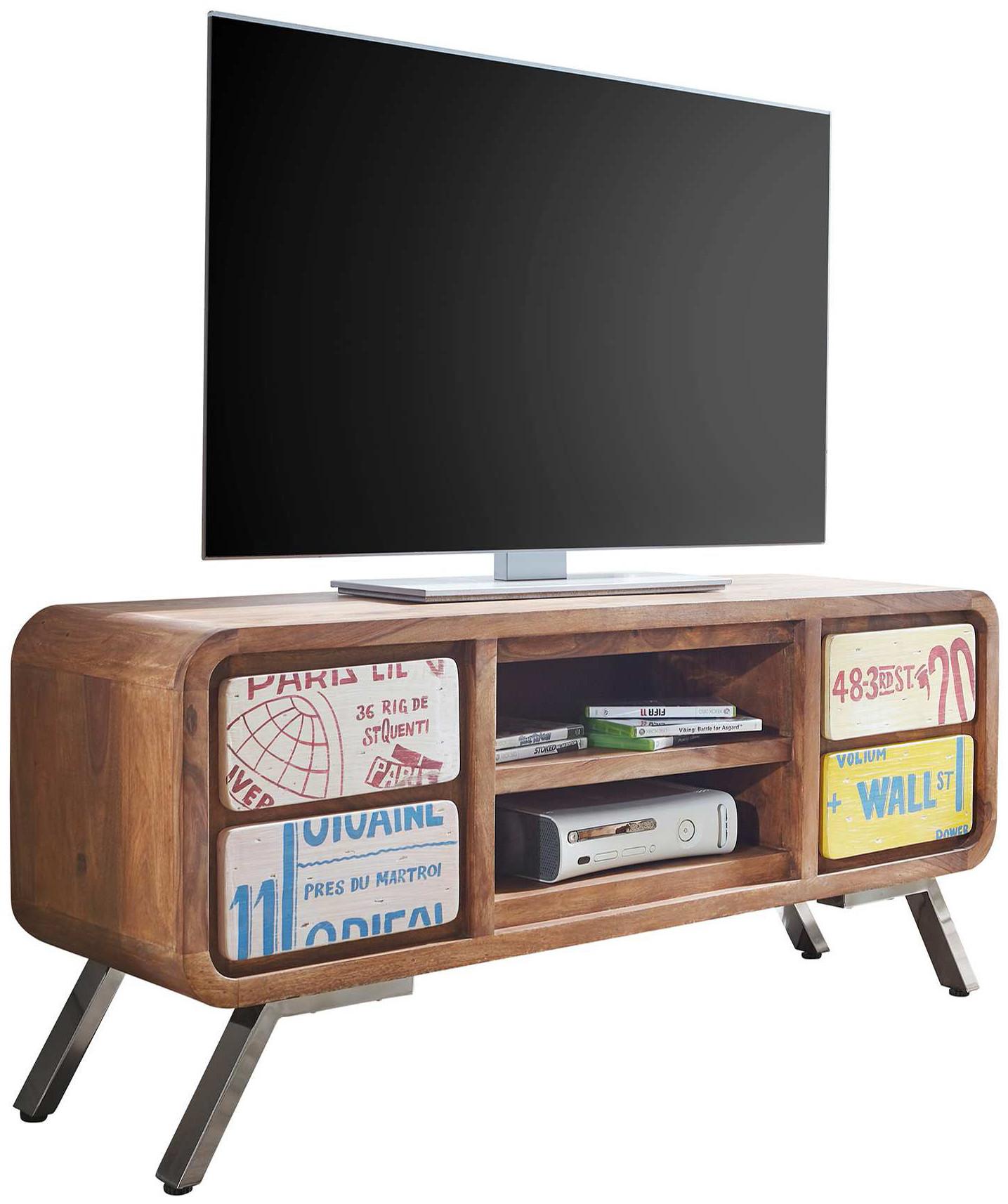 Meuble tv design vintage bois