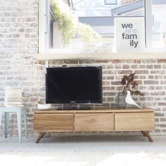 Meuble tv bois 150