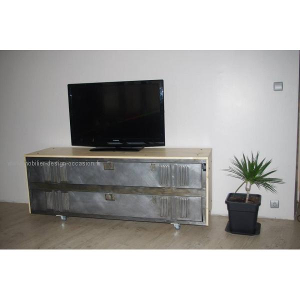 Casier industriel meuble tv