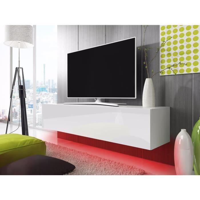 Meuble tv blanc rouge