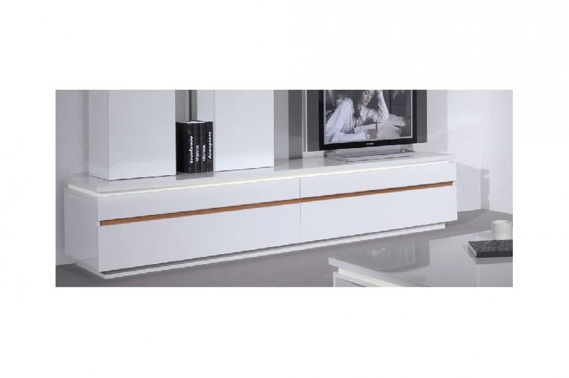 Meuble tv alinea blanc laque