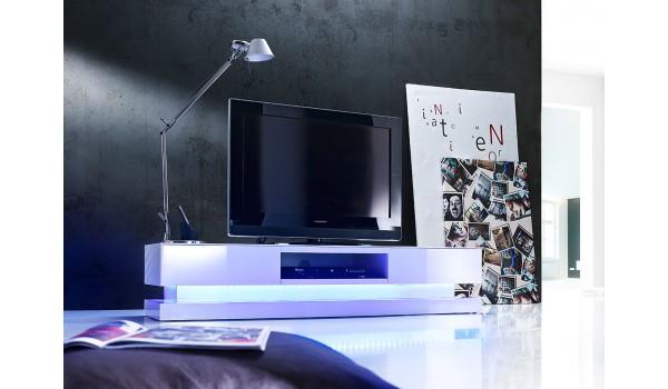 Meuble tv a led blanc