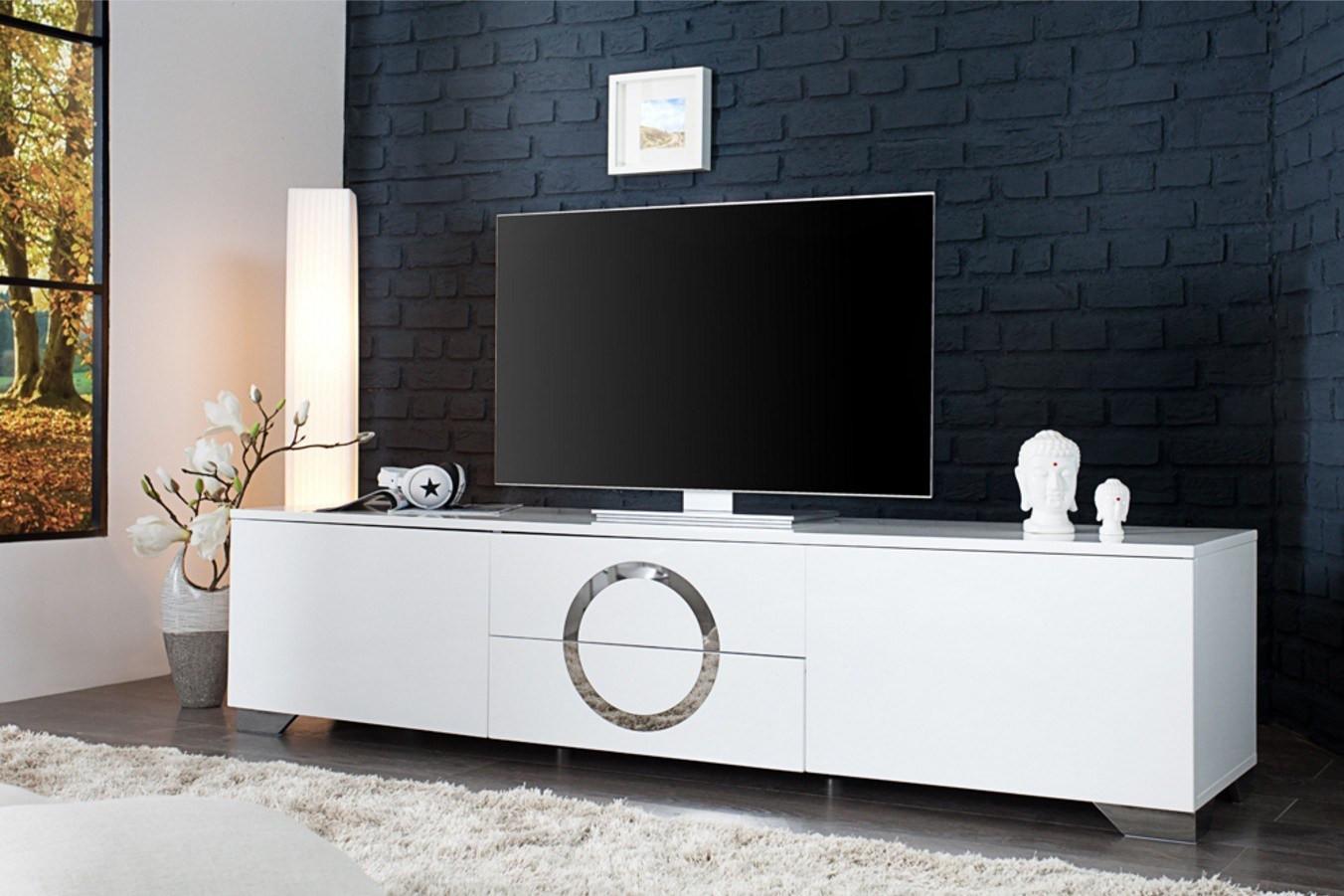 Ikea meuble tv blanc laqué