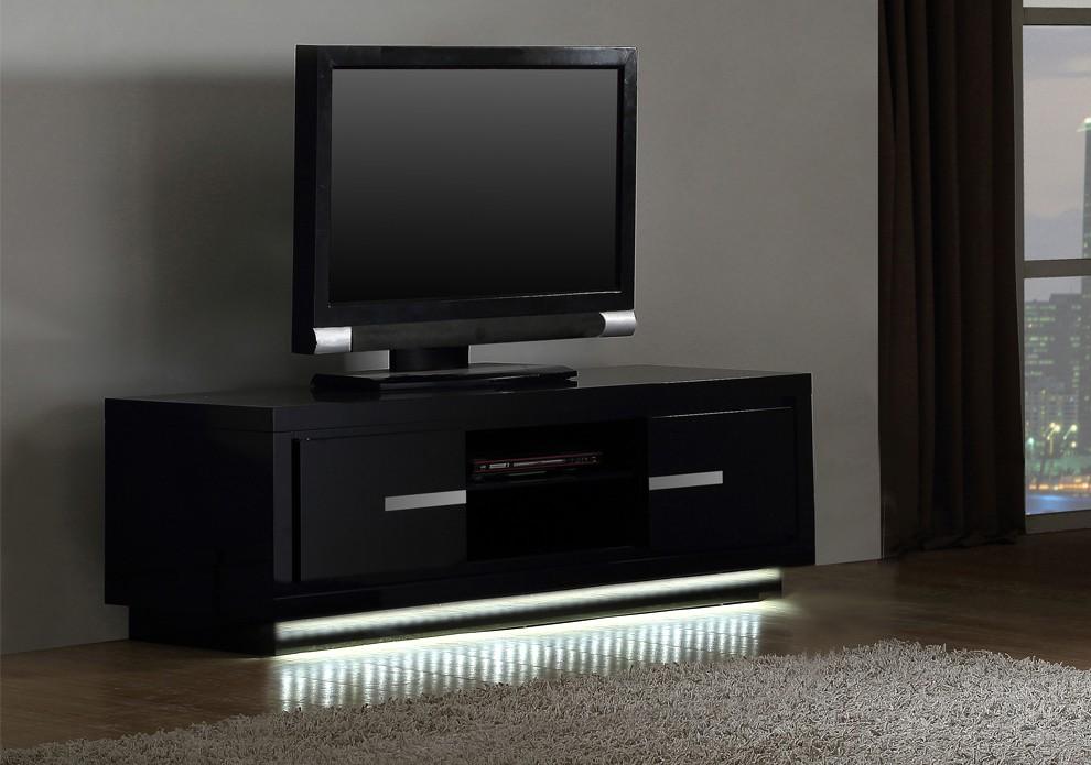 Meuble de tv noir pas cher