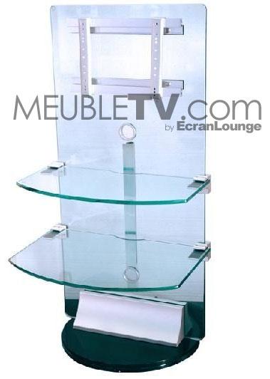 Meuble tv hifi verre