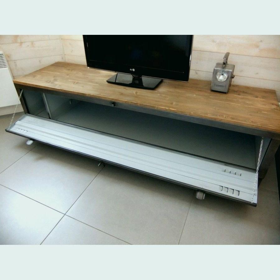 Meuble tv casier métal