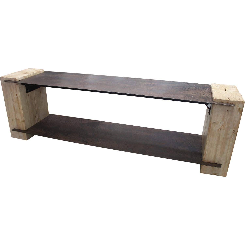 Meuble tv en métal et bois