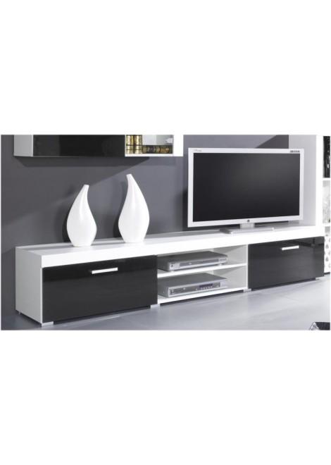 Meuble tv moderne laqué noir