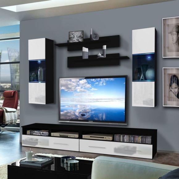 Meuble tv suspendu 240 cm