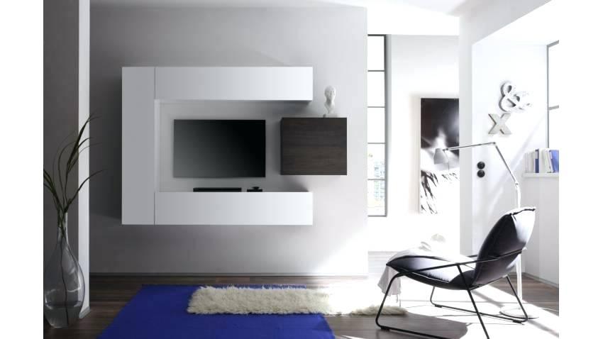 Ensemble meuble tv mural noir laqué à led miami