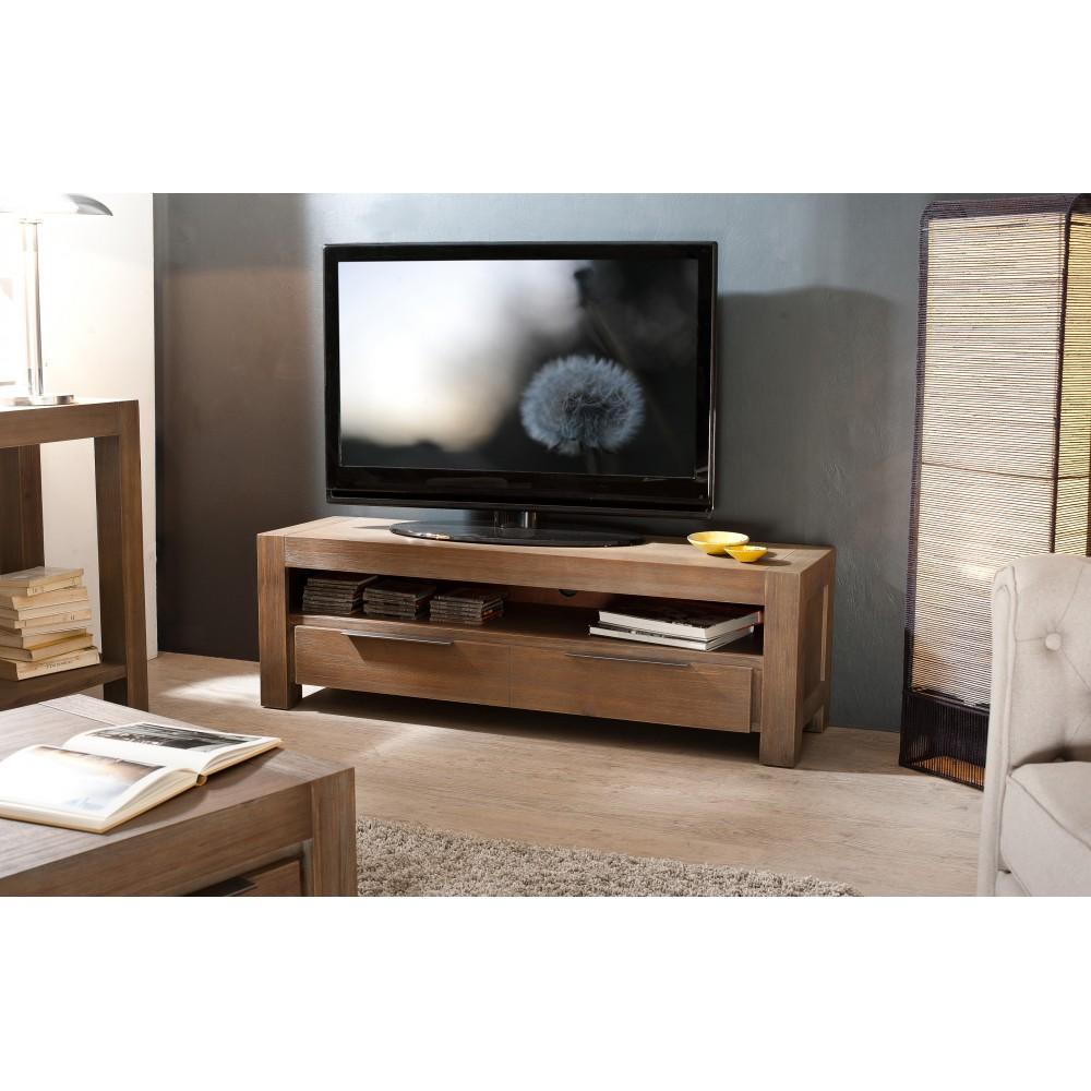Meuble tv en bois avec tiroir
