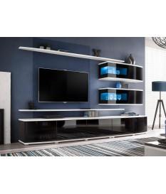 Meuble tv suspendu forme arrondie