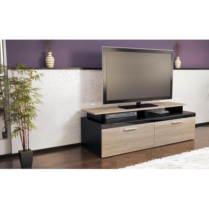 Meuble tv en bois brut pas cher