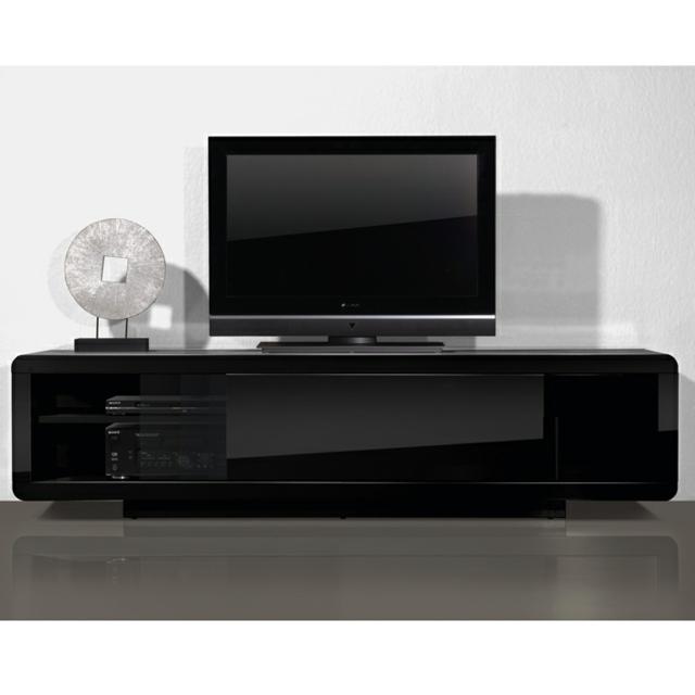 Meuble tv design noir laque