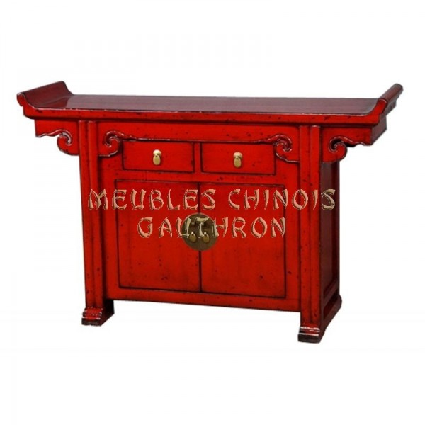 Meuble tv rouge chinois
