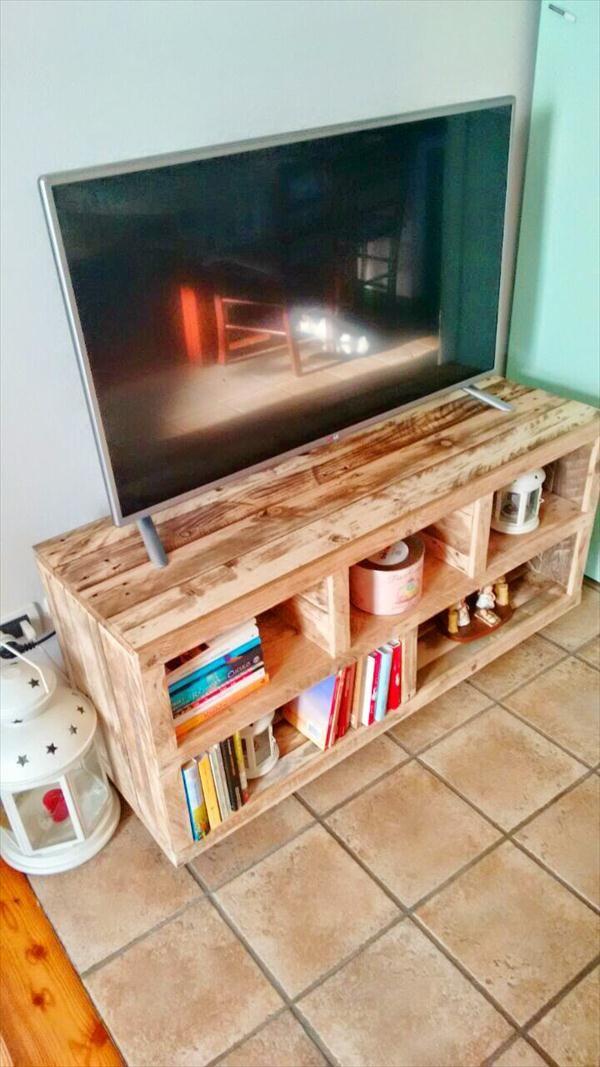 Meuble tv palette et fer