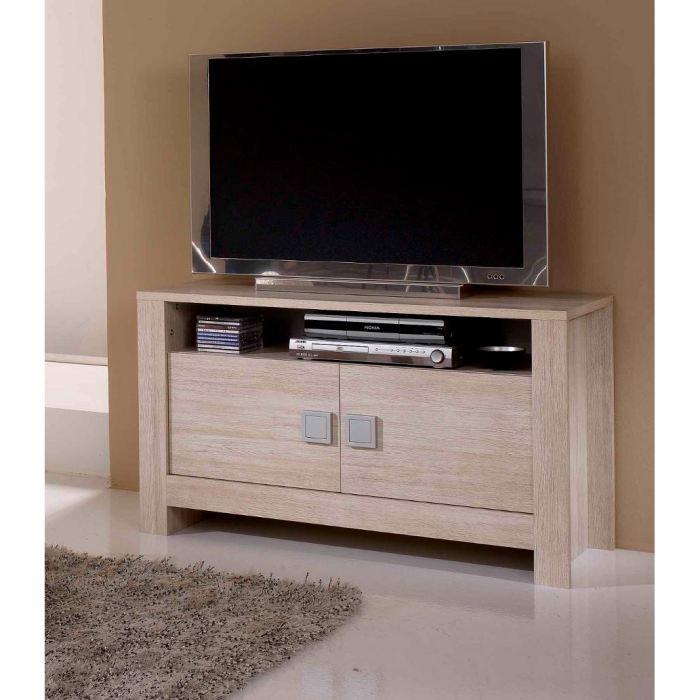 Meuble tv bois clair petit