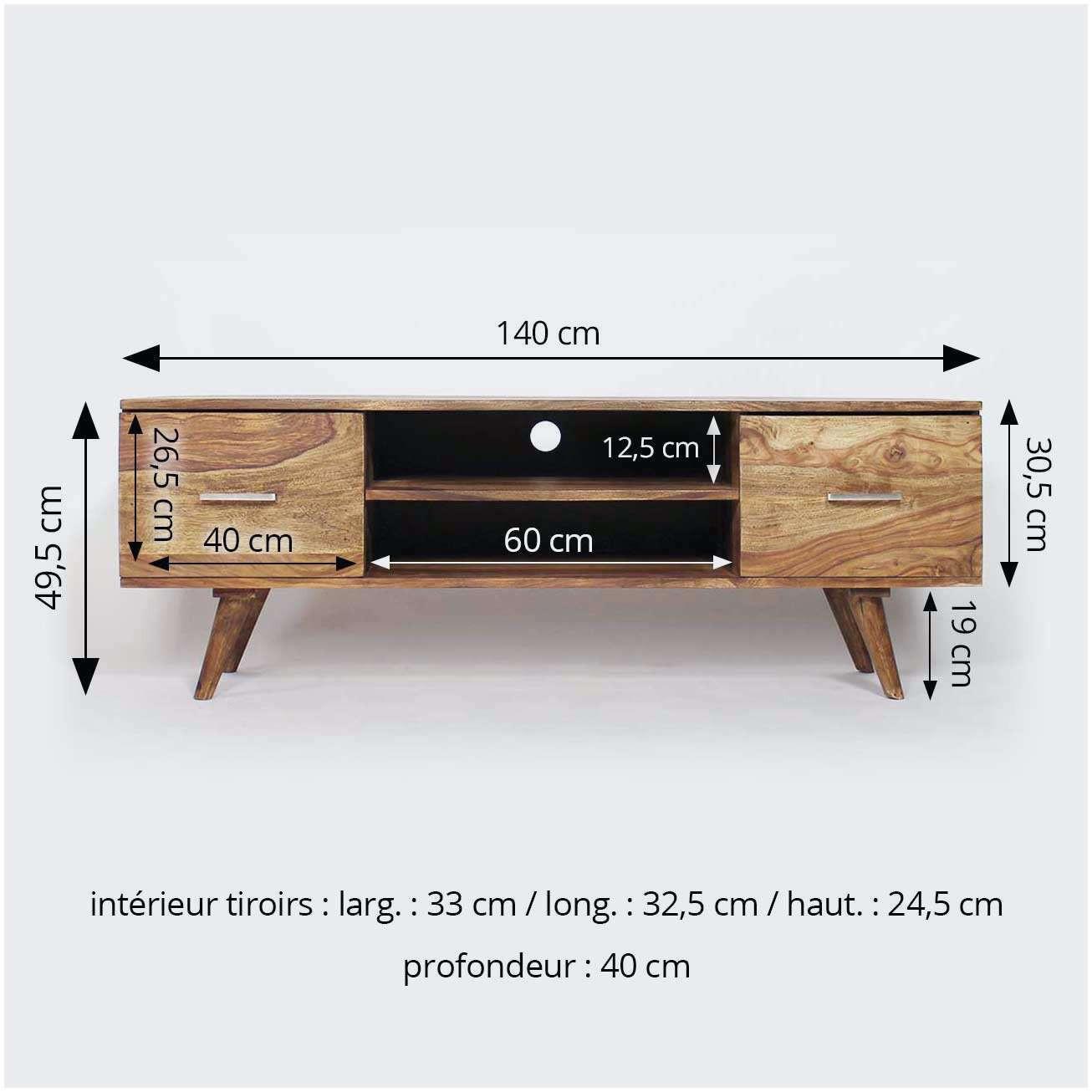 Meuble tv blanc profondeur 30cm