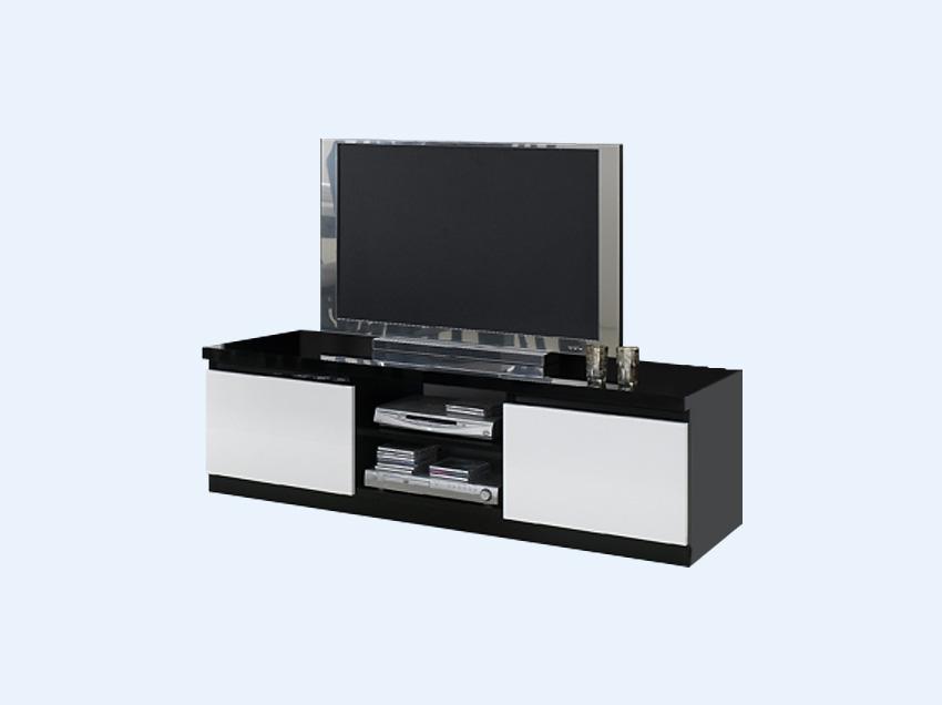 Meuble tv laquer blanc et noir