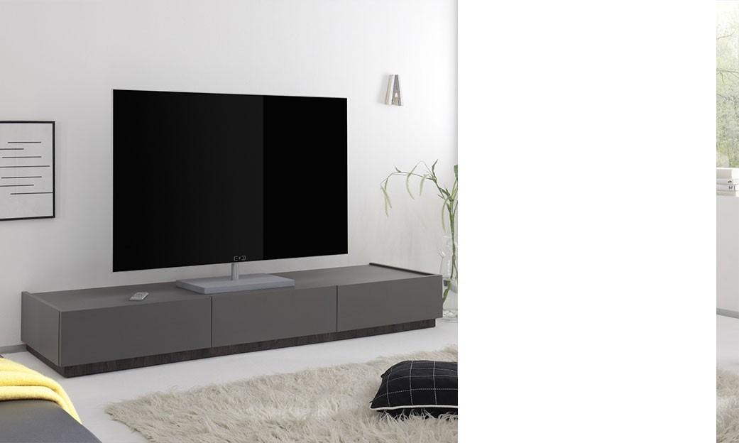 Meuble tv gris laqué