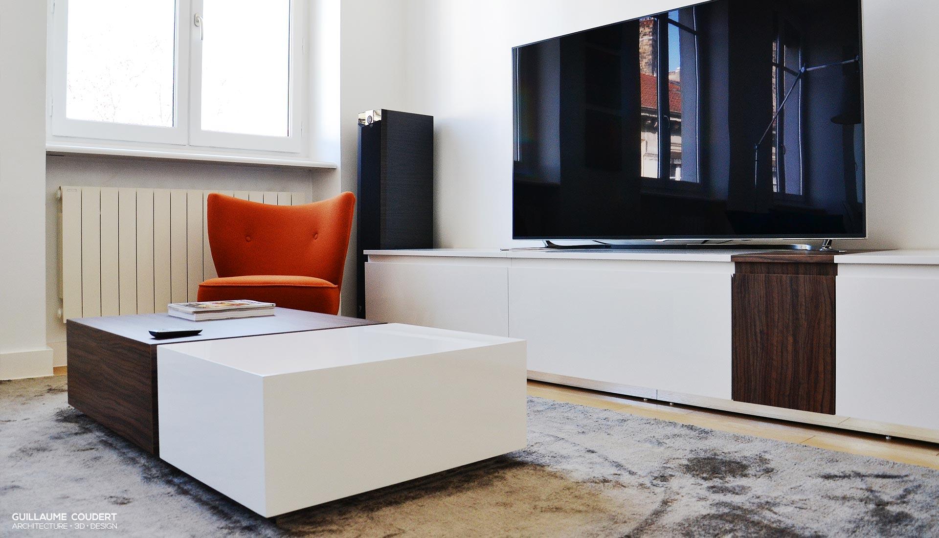 Meuble tv sur mesure lyon