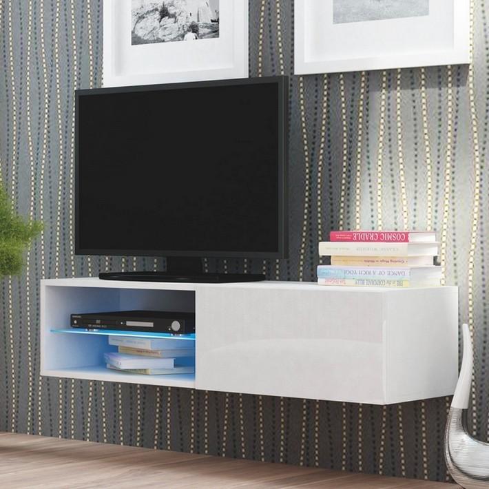 Meuble tv design suspendu led