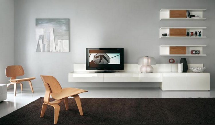 Meuble tv suspendu etagere