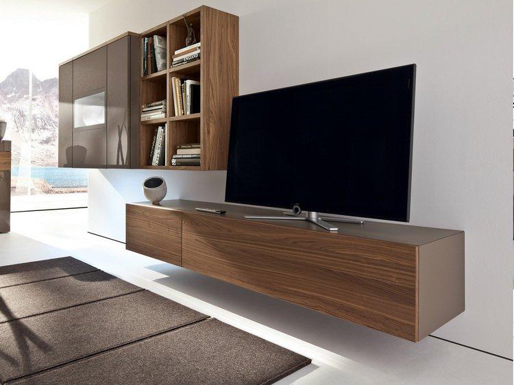 Meuble tv avec télé suspendu