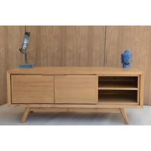 1 x swithome meuble tv swithome mini polytub chêne brut