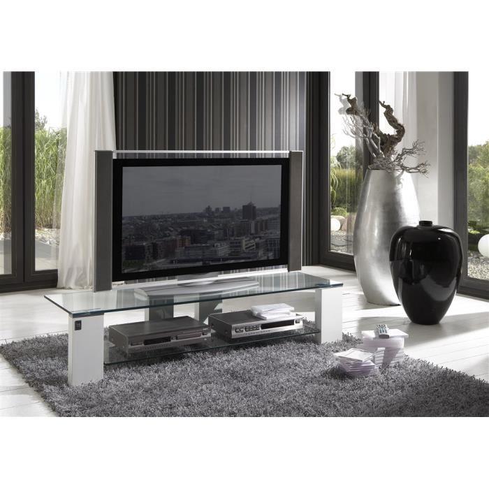 Meuble tv en verre cdiscount