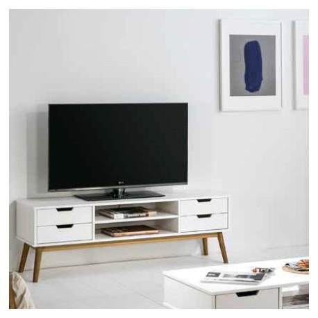 Meuble tv mery blanc