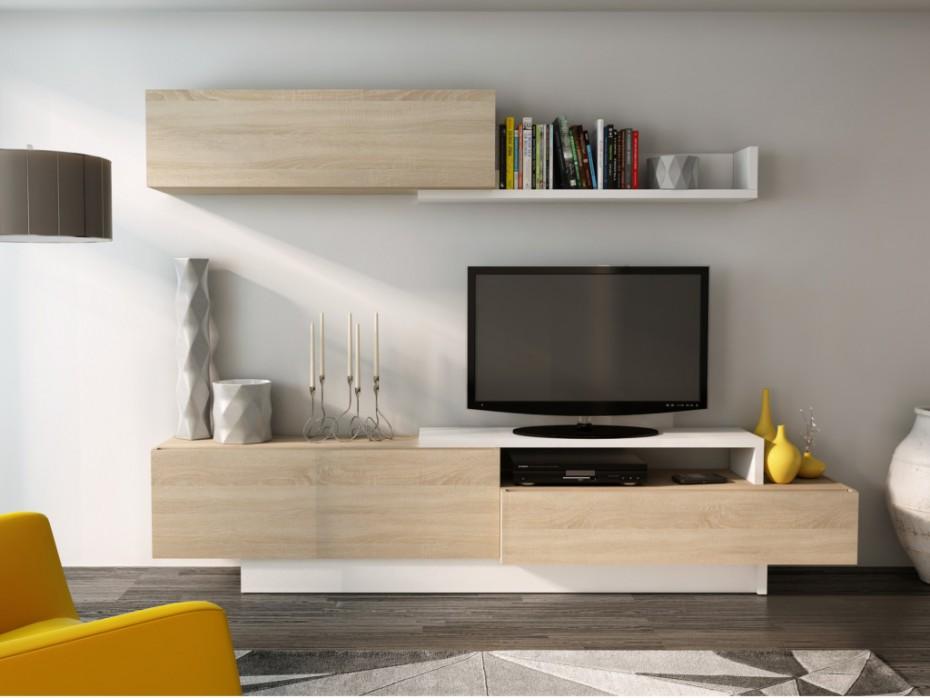 Meuble tv sur mur
