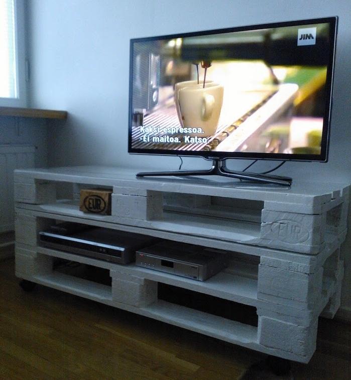 Meuble tv avec palette en bois
